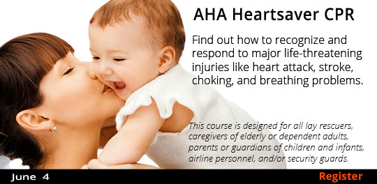 AHA Heartsaver CPR with AED (Adult, Child, & Infant)  6/4
