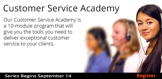Customer Service Academy 9-14