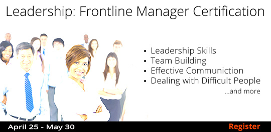 Leadership: Frontline Manager Certificate 5/30