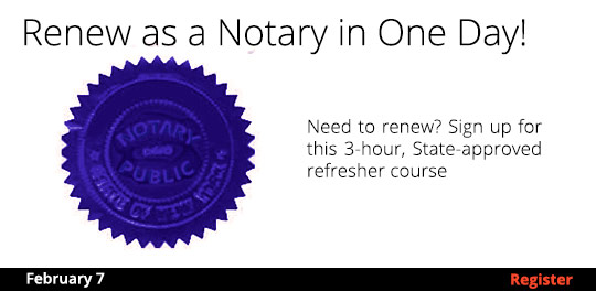 Renew as a Notary in One Day! 2/7