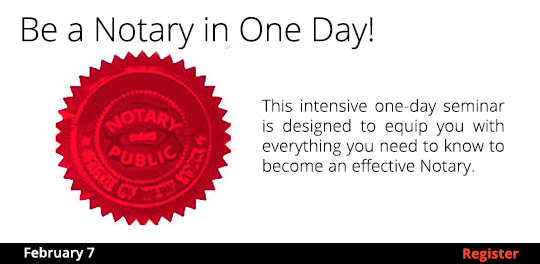 Becoming a Notary in One Day! -2/7