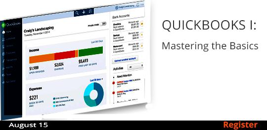 QuickBooks I: Mastering the Basics  8/15
