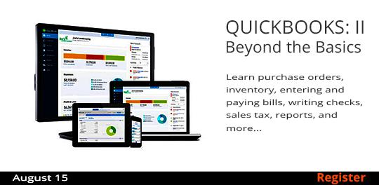 QuickBooks II: Beyond the Basics   8/15