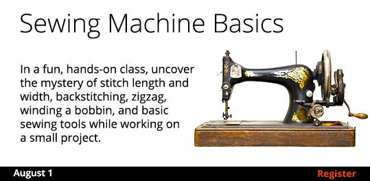 Sewing Machine Basics  8/1