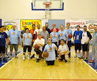 Amin Sadeghpour is front and center in this 2013 group shot of Basketball for the Rest of Us