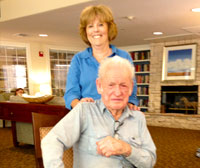 Jim Wyllie with Lynn Carr