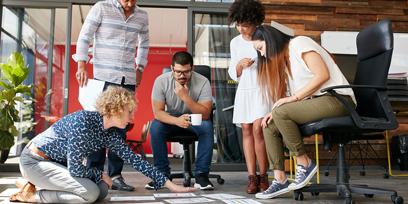 Entreprenuers brainstorming