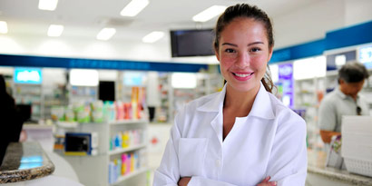 female pharmacy technician at a pharmacy
