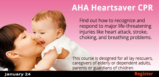 AHA Heartsaver CPR with AED (Adult, Child, & Infant), 1/24/2019