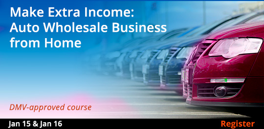 Auto Wholesale Business from Home, 1/15/2020 - 1/16/2020