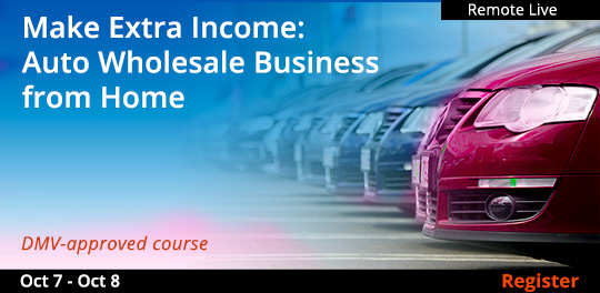 Make Extra Income: Auto Wholesale Business from Home (Remote Live), 10/07/2020 - 10/08/2020