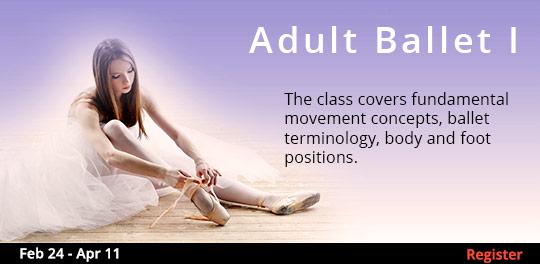 Adult Ballet I, 2/24/2020 - 5/11/2020