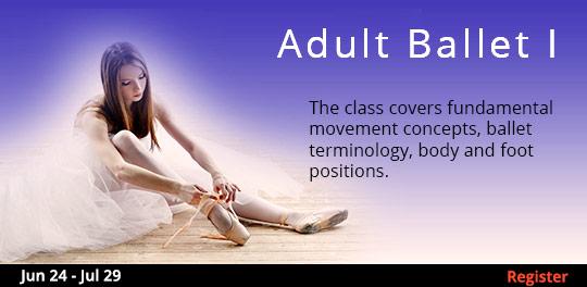 Adult Ballet I, 6/24/2019 - 7/29/2019