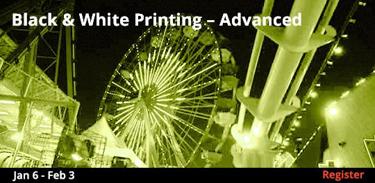 Black & White Printing - Advanced, 1/6/2019 - 2/3/2019