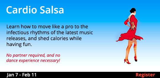 Cardio Salsa, 1/7/2020 - 2/11/2020