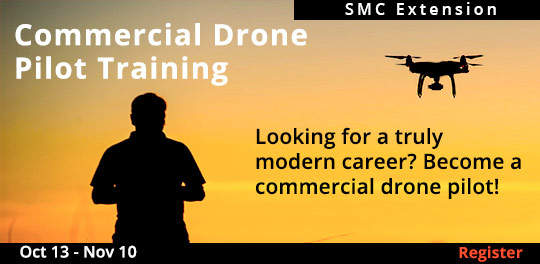Commercial Drone Pilot Training Certification - 10/13 - 11/10