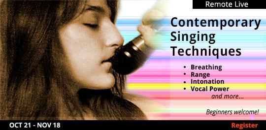 Contemporary Singing Techniques (Remote Live), 10/21/2021 - 11/18/2021