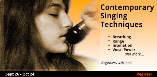 Contemporary Singing Techniques, 9/26/2019 - 10/24/2019