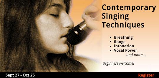 Contemporary Singing Techniques, 9/27/2018 - 11/25/2018