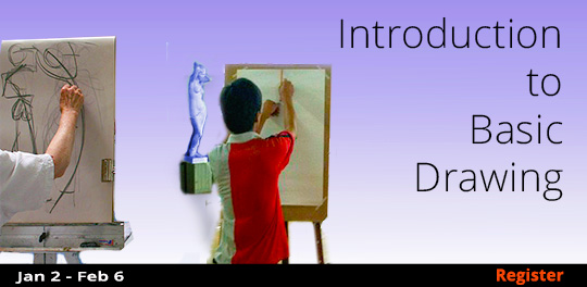 Introduction to Basic Drawing, 1/2/2019 - 2/6/2019