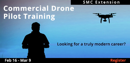 Commercial Drone Pilot Training, 2/16/2019 - 3/2/2019 AND 3/9/2019 - 3/16/2019