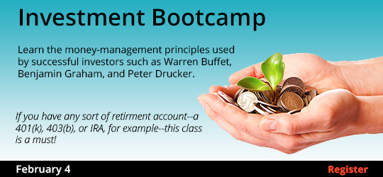 Investment Bootcamp, 2/4/2020