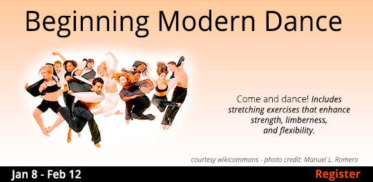 Beginning Modern Dance, 1/8/2020 - 2/12/2020