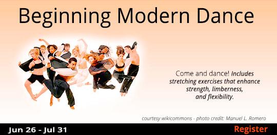 Beginning Modern Dance, 6/26/2019 - 7/31/2019