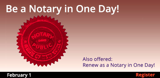 Become a Notary in One Day, 2/1/2020 - 2/1/2020