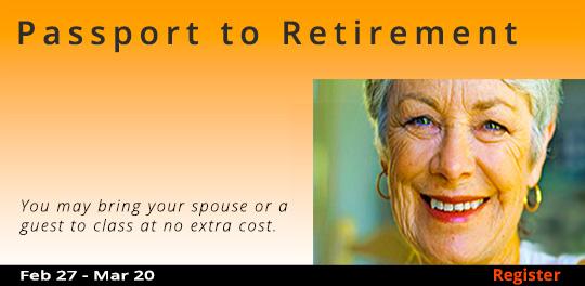Passport to Retirement, 2/27/2019 - 3/20/2019