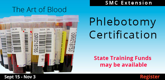 Certified Phlebotomy Technician 1, 9/15/2018 - 11/3/2018