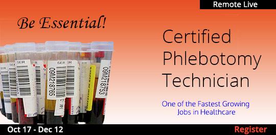 Phlebotomy Certification (Remote Live), 10/17/2020 - 12/12/2020