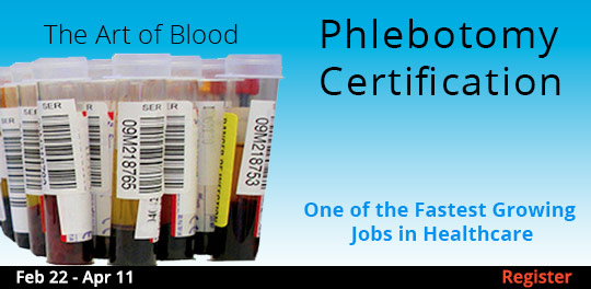 Phlebotomy Certification, 2/22/2020 - 4/11/2020
