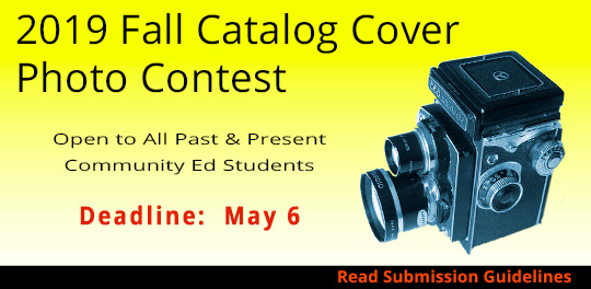 2019 Fall Catalog Cover Photo Contest - dealine May 6