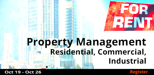 Property Management-Residential, Commercial, Industrial, 10/19/2019 - 10/26/2019