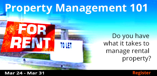Property Management 101, 3/24/2018 - 3/31/2018