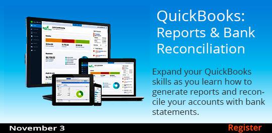 QuickBooks: Reports & Bank Reconciliation, 11/3/2018