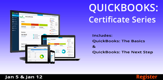 Certificate Series:QuickBooks, 01/05/2019 and 01/12/2019