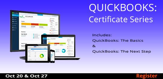 Certificate Series:QuickBooks, 10/20 & 10/27