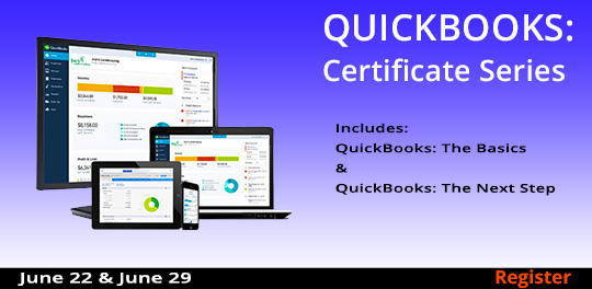 QuickBooks  Course Series, 6/22 - 6/29/2019