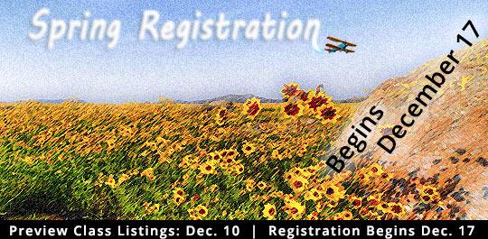 Spring 2019 Registration begins December 17