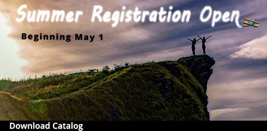 Summer Fall Registration Begins May 1, 2021