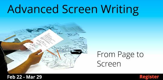 Advanced Screenwriting, 2/22/2018 - 3/29/2018