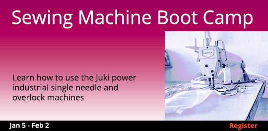 Sewing Machine Boot Camp, 1/5/2019 - 2/2/2019