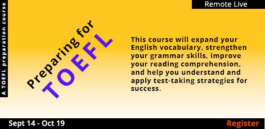Preparing for TOEFL