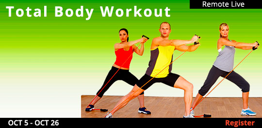 Total Body Workout (Remote Live),10/02/2021 - 10/23/2021