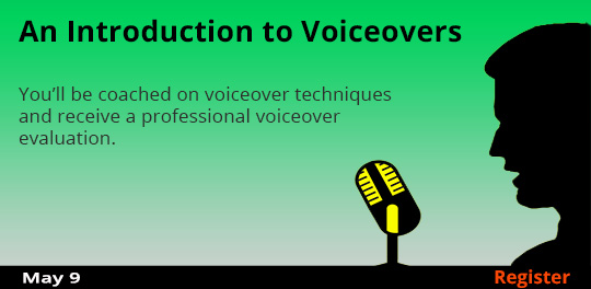 An Introduction to Voiceovers, 5/9/2018