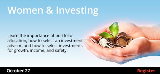 Women & Investing (Remote Live), 10/27/2020 - 10/27/2020
