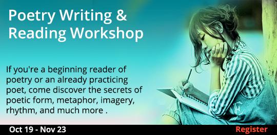 Poetry Writing & Reading Workshop, 10/19/2019 - 11/23/2019