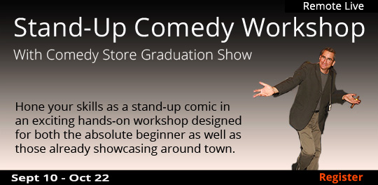 Stand-Up Comedy Workshop with Graduation Show (Remote Live), 09/10/2020 -10/22/2020
